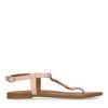 Sandales en cuir avec détails dorés - rose