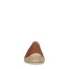 Espadrilles en cuir avec imprimé serpent en relief - marron