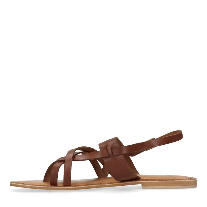 Sandales en cuir - marron