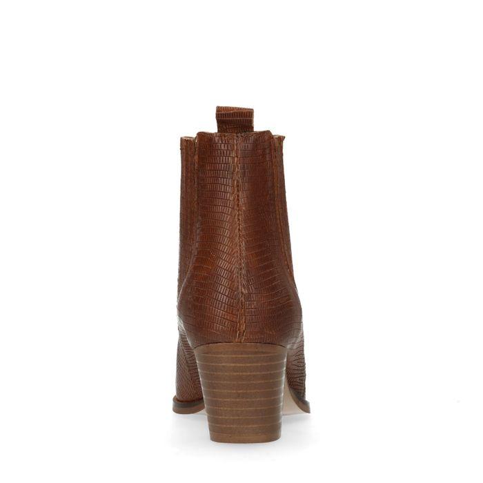Chelsea boots à talon - marron