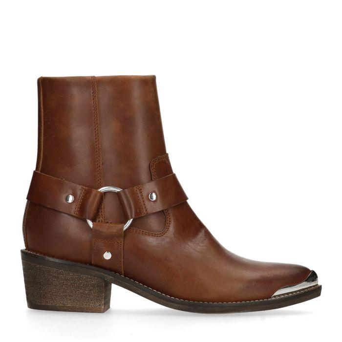 09f833db850 Bottines style western en cuir - marron - femmes – SACHA