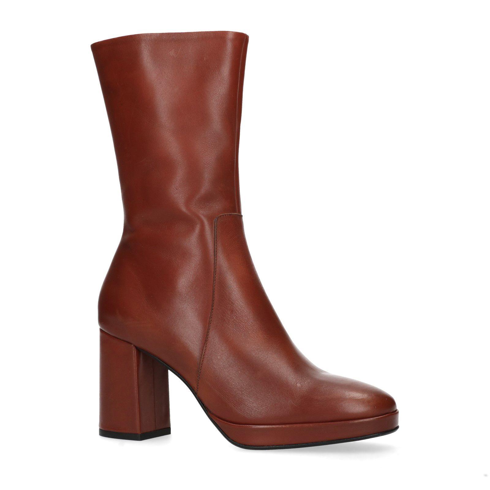 bottes cuir femme 36 tige courte