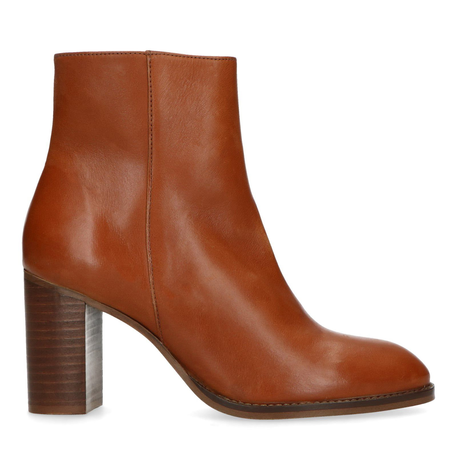 Sacha Bottines cuir à talon marron