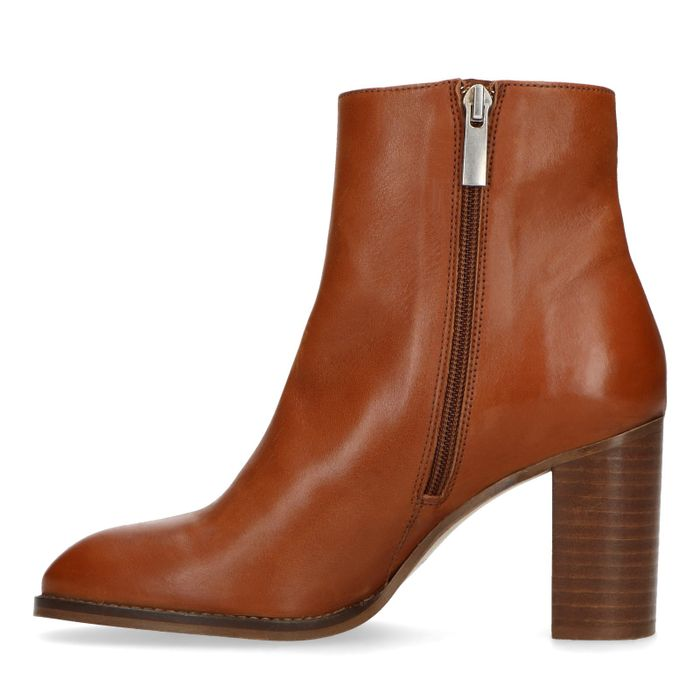 Bottines cuir à talon - marron
