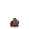 Loafers en cuir avec imprimé croco - marron