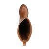 Bottines hautes en cuir avec semelle plateforme - marron