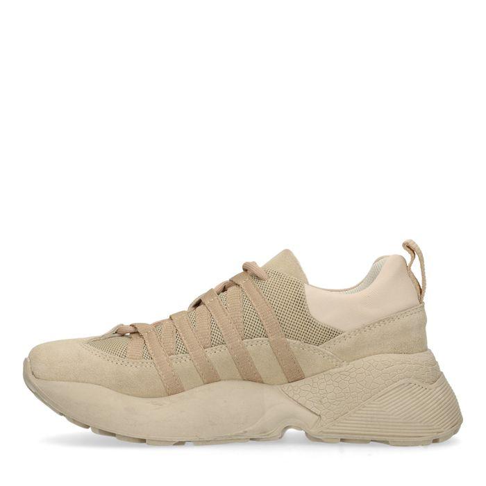Dad shoes cuir et synthétique - marron