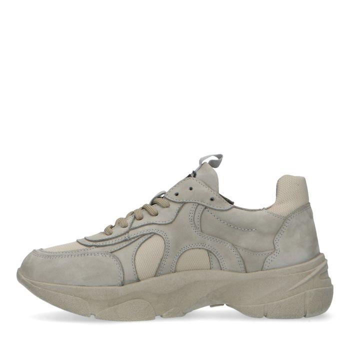 Dad shoes en cuir - gris