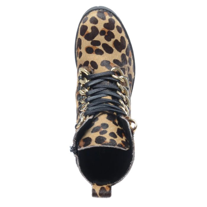 Bottines motardes imprimé léopard