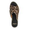 Claquettes cuir à plateforme avec imprimé léopard
