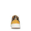 Dad shoes en cuir avec imprimé léopard - jaune ocre