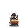 Dad shoes en cuir avec imprimé serpent - jaune