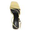 Sandales cuir à talon - jaune