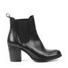 Chelsea boots en cuir avec talon cubain - noir