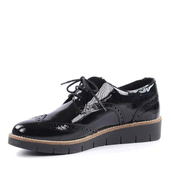 Chaussures à plateau brogue - noir