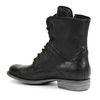 Combat boots en cuir - noir