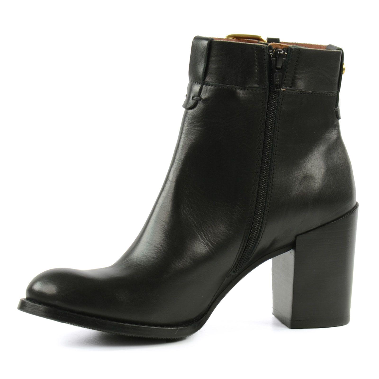 à femmes – Bottines SACHA cuir boucle noir talon avec 54LqRAj3