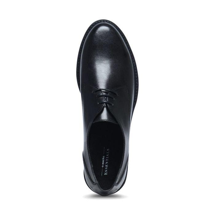 Chaussures à lacets en cuir - noir