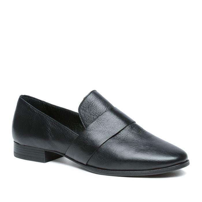Loafer en cuir - noir