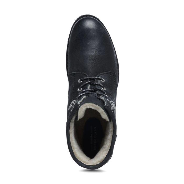 Bottines à lacets noires