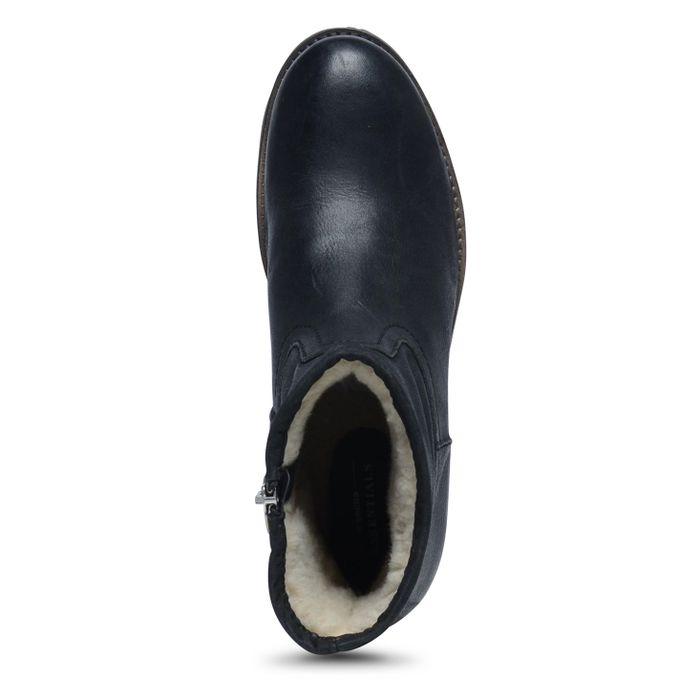 Bottes courtes en cuir - noir