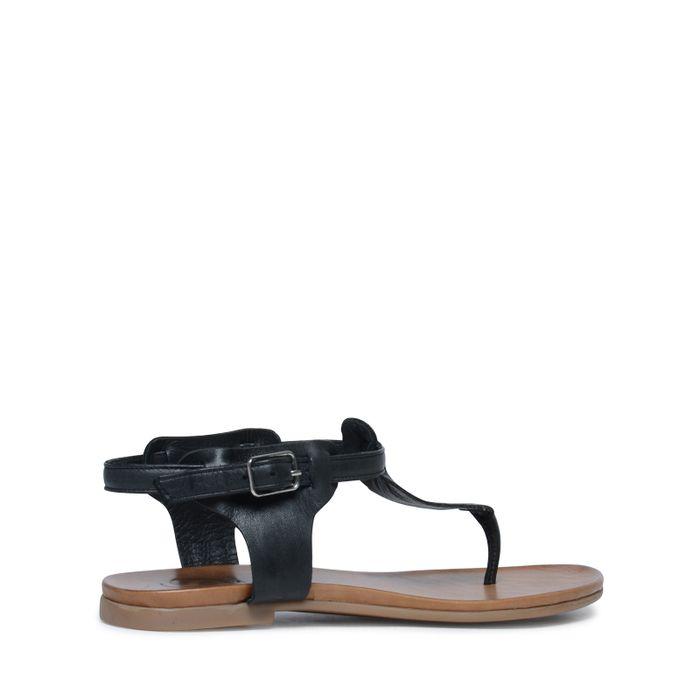 Sandales en cuir - noir