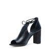 Sandales ajourées à talon - noir