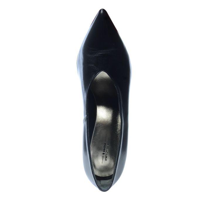 Escarpins en cuir fermés - noir