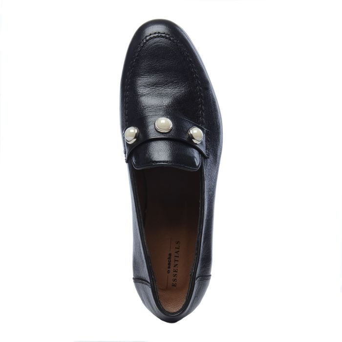 Loafers noirs avec perles