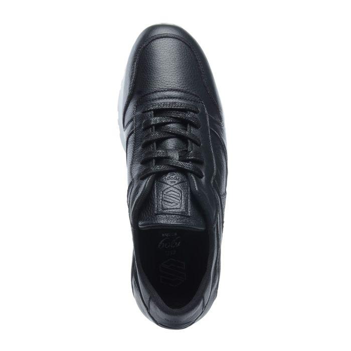 Baskets en cuir basses - noir