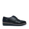 Chaussures à lacets en cuir métallisées - noir