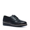 Chaussures à lacets métallisées - noir