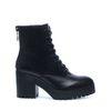 Chaussures à lacets avec talon cubain - noir