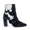 Bottines western avec clous blancs - noir