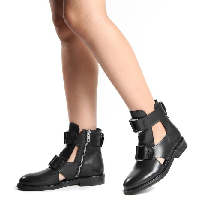 Bottines cut out - noir
