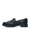 Loafers avec franges et clous - noir