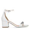 Sandales cuir à talon avec détail - blanc