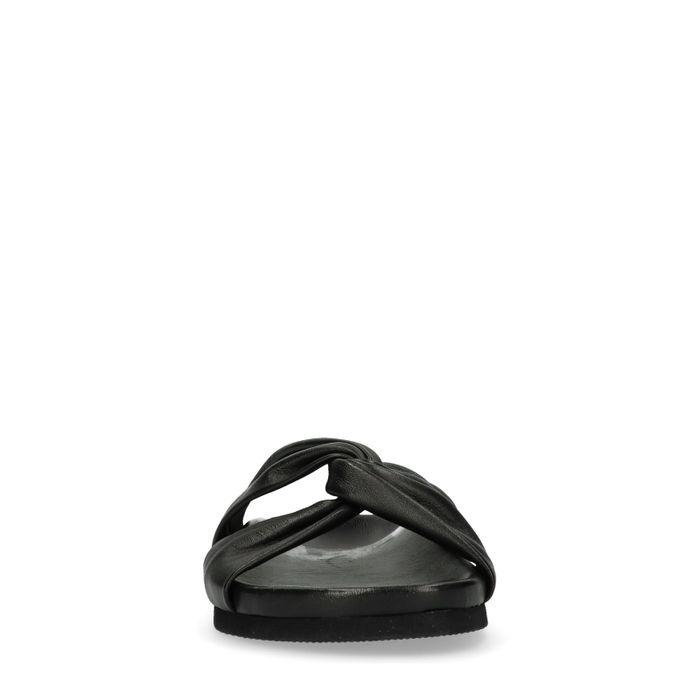 Claquettes en cuir - noir