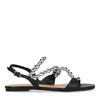 Sandales plates avec perles