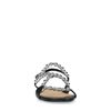 Sandales en cuir avec perles - noir