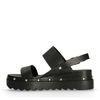 Sandales cuir à plateau avec clous - noir