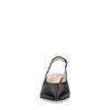 Escarpins slingback en cuir avec petit talon - noir