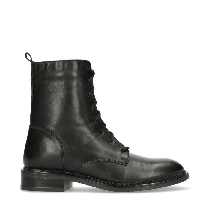 ec9b4137bd9 Bottines à lacets en cuir - noir - femmes – SACHA