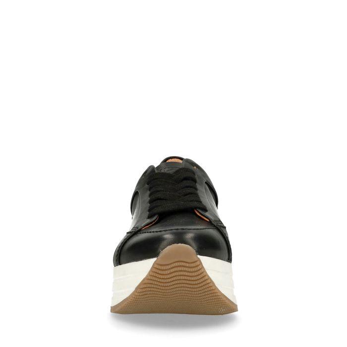 Baskets à plateforme avec semelle blanche - noir