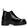 Chelsea boots vernies à plateforme - noir