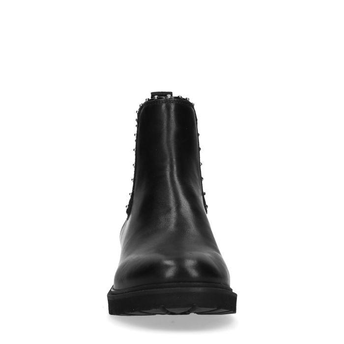 Chelsea boots avec clous - noir