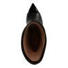 Bottes courtes en cuir à talon - noir