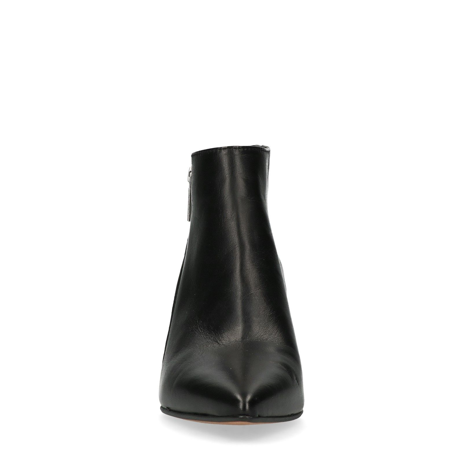 bottines cuir noires pointues