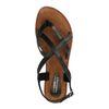 Sandales en cuir avec brides croisées - noir