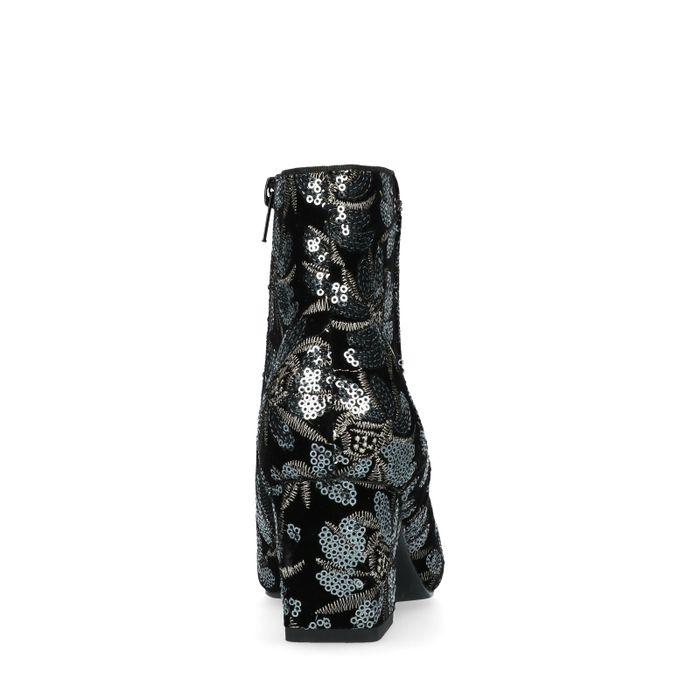 Bottines avec paillettes - noir
